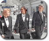 flight attendants walking through airport